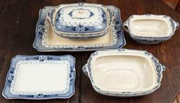 Sale 9120H - Lot 225 - F & Sons Weir Burslem ceramics consisting of three twin handled tureens and two platters.