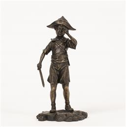 Sale 9187JM - Lot 5019 - DAVID BROMLEY (1960 - ) Pirate at Play limited edition bronze sculpture h. 36 cm inscribed to base
