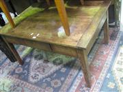 Sale 7933A - Lot 1150 - Probably Antique French Walnut Low Table with Single Drawer
