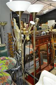 Sale 8161 - Lot 1062 - Pair of Brass Standard Lamps