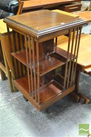 Sale 8364 - Lot 1056 - Edwardian Mahogany Revolving Bookcase