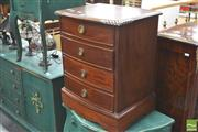 Sale 8418 - Lot 1077 - Pair of Mahogany Bedside Cabinets