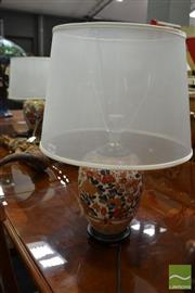 Sale 8489 - Lot 1034 - Pair of Floral Base Table Lamps