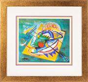 Sale 8741A - Lot 81 - Wassily Kandinsky, Red Oval, limited edition decorative print, 74 x 80 (frame size), certificate verso