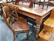 Sale 8740 - Lot 1381 - Timber Dining Table with 5 Chairs