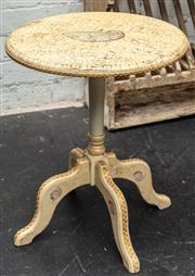 Sale 8942H - Lot 41 - A four legged occasional table with nautilus shell decoration, Height 47cm diameter 39cm