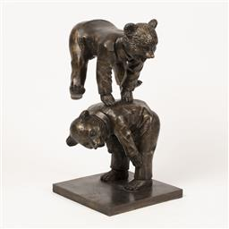 Sale 9187JM - Lot 5048 - DAVID BROMLEY (1960 - ) Leaps and Bounds limited edition bronze sculpture h. 79 cm inscribed to base