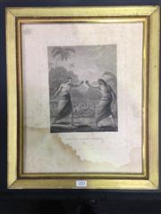 Sale 8125 - Lot 44 - A Boxing Match, Hapaee (Hawaii). An engraving from J. Webber, as witnessed during Captain Cooks expedition 1770. Image size 23 x 18c...