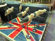 Sale 8087 - Lot 1037 - A Good Flock Of Hand Painted Carved Timber Birds