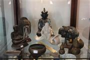 Sale 8189 - Lot 163 - Bronze Buddha Figures with Other Oriental Wares incl. Blanc de Chine
