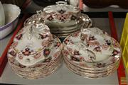 Sale 8217 - Lot 2146 - Part Tunstal Empire Dinner Service Inc Graduated Platers And Lidded Tureens AF
