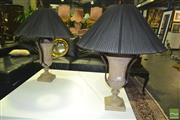 Sale 8227 - Lot 1017 - Pair of Ceramic Based Table Lamps