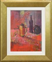 Sale 8270A - Lot 12 - Russell Hollings (1948 - ) - Still Life - Red 39 x 29cm