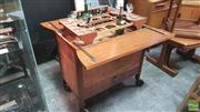 Sale 8383 - Lot 1003 - Teak Rolling Drinks Cabinet with Pop Up Interior