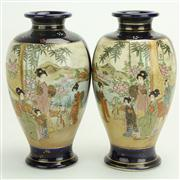Sale 8393B - Lot 47 - Satsuma Pair of Vases