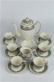 Sale 8396 - Lot 89 - Johnson Bros 'Old English' Coffee Setting for 6 Persons