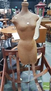 Sale 8409 - Lot 1075 - A Vintage Mannequin with Throw Away Dress