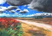 Sale 8518 - Lot 2032 - Kylie McNamara - Untitled, Moree Plains Landscape 45 x 65cm