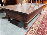 Sale 8740 - Lot 1397 - Large Timber Coffee Table