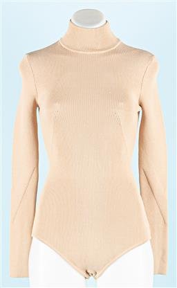 Sale 9091F - Lot 241 - A SEED HERITAGE BODY SUIT in beige with turle neck, size xs