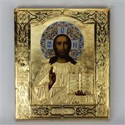 Sale 8169 - Lot 91 - Russian Icon of Christ Pantocrator