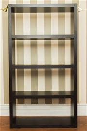 Sale 8222 - Lot 67 - A timber finish storage unit, with three shelves, H 190, W 210, D 38cm