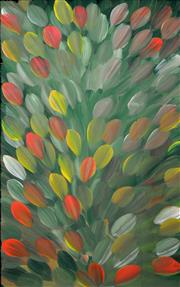 Sale 8260A - Lot 16 - Gloria Petyarre (c.1945 - ) - Bush Medicine Leaves 90 x 60cm