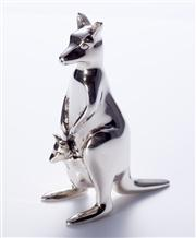 Sale 8376A - Lot 38 - An Australian Sterling Silver Kangaroo figure, hallmarked Collette Solid 925 Aust, ht 5.5cm wt 71.0g