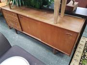 Sale 8593 - Lot 1023 - Vintage Four Drawer Two Sliding Door Sideboard