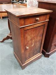 Sale 8848 - Lot 1018 - Late 19th Century French Walnut Bedside Cabinet, with single drawer & door