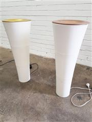 Sale 9076 - Lot 1073 - Pair of Plastic Up Shade Floor Lamps (h:78cm)