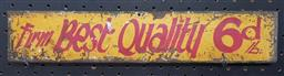 Sale 9134 - Lot 1030 - Hand painted Best Quality metal sign (h:7.5 x w:39cm)