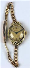 Sale 7577 - Lot 36 - A LADYS 18CT GOLD MOERIS WRISTWATCH;