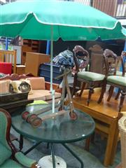 Sale 7969A - Lot 1030 - Outdoor Table with Umbrella