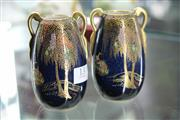 Sale 8086 - Lot 13 - Carlton Ware Pair of Chinoiserie Vases
