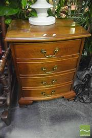Sale 8307 - Lot 1097 - Pair of 4 Drawer Bedside Cabinets