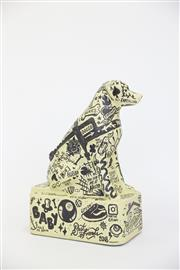 Sale 8479G - Lot 11 - Jesse Wright - YOU + ME. My inspiration for this piece comes from my relationship with my rescue dog, Ace. This doggo is covered i...