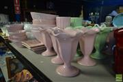 Sale 8530 - Lot 2321 - Collection of Pink, Green, & White Ceramics incl. Bowls, Plates, Dishes, etc