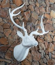 Sale 8782A - Lot 104 - A white Stag head feature approx 90cm high.