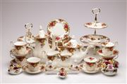 Sale 9064 - Lot 10 - An Extensive Suite of Royal Albert Old Country Rose Tea/Coffee Service