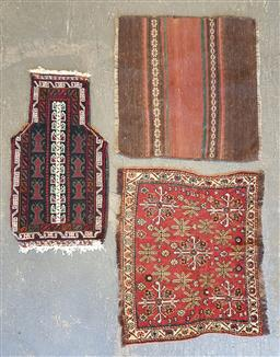 Sale 9102 - Lot 1030 - Collection of 3 Persian door mats (various sizes)