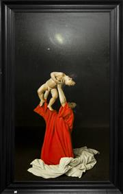 Sale 8205 - Lot 60 - Angelos Panagiotou 1943- - Cosmic with Mother and Child 180 x 88cm