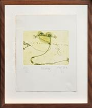 Sale 8266 - Lot 527 - John Olsen (1928 - ) - Billabong, 2002 14.5 x 19cm