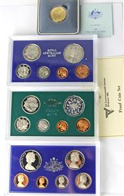 Sale 8299C - Lot 523 - ROYAL AUSTRALIAN MINT SIX & EIGHT COIN PROOF SETS; 1981, 1982 (x5) 83 (x2), 86, 87, 88, 89, 90, Two dollars, One dollar, Fifty cents...