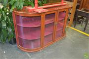 Sale 8331 - Lot 1306 - Large Bow Front Display Cabinet