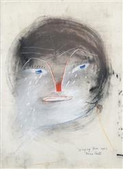 Sale 8466A - Lot 5026 - Anne Hall (1946 - ) (3 works) - Weeping Tom, 1967; Portrait Studies, 1967 76 x 56cm, each (sheet size)