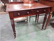 Sale 8917 - Lot 1077 - Victorian Mahogany Side Table or Desk, with two drawers