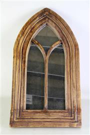 Sale 8931B - Lot 639 - Gothic timber arched mirror (height - 71cm)