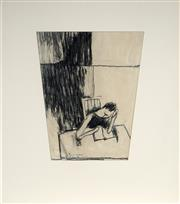 Sale 8992 - Lot 574 - Don Peebles (1922 - 2010) - Figure Reading 1968 34.5 x 28 cm (irregular) (frame: 59 x 51 x 2 cm)