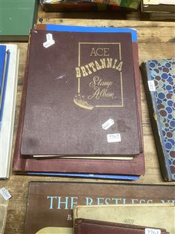 Sale 9101 - Lot 2262 - Blue Album & 2 Binders of World Stamps as Singles, Blocks & a Sheet
